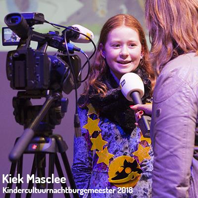 Kiek Masclee - Kindercultuurnachtburgemeester 2018