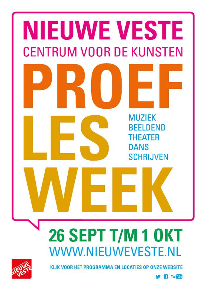 Proeflesweek Nieuwe Veste: 26 september tot en met 1 oktober 2016
